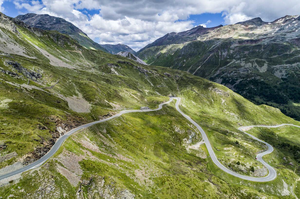 Switzerland graubuenden canton livigno alps bernina pass stsf01711